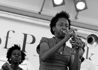 Jackie Coleman of Akoya Afrobeat Ensemble at the Peekskill Music Festival